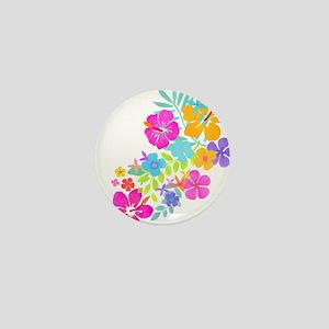 Tropical Flowers Mini Button