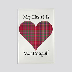 Heart - MacDougall Rectangle Magnet