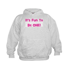 It's Fun To Be ONE! Pink Hoodie