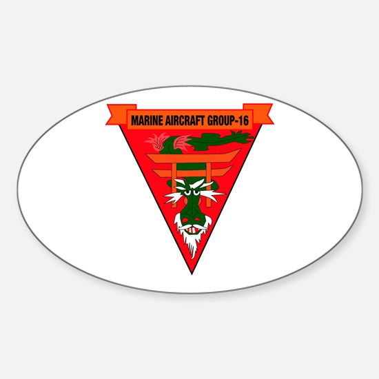 Marine Aircraft Group 16 Sticker (Oval)