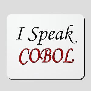 """""""I Speak COBOL"""" Mousepad"""