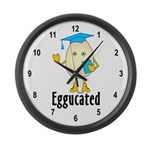 Eggucated Large Wall Clock