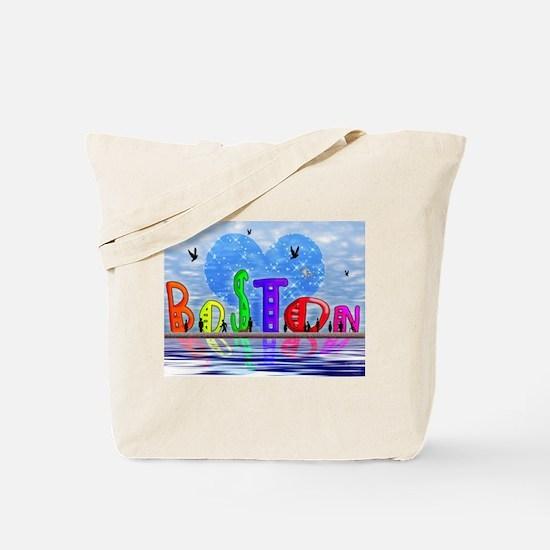 Cute Boston city Tote Bag