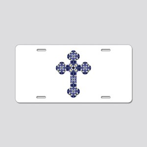 Bluebonnet cross Aluminum License Plate