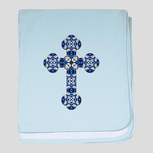 Bluebonnet cross baby blanket
