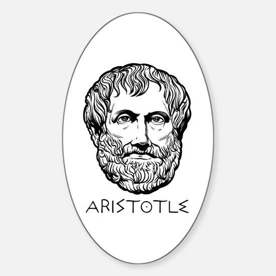 Aristotle Sticker (Oval)