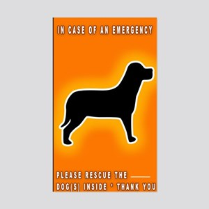 Dog Emergency Sticker Orange