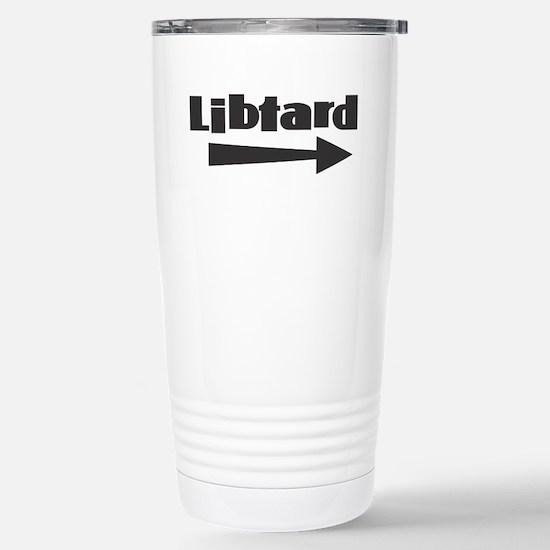 Libtard w Arrow R Travel Mug