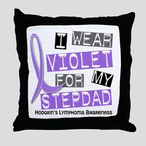 I Wear Violet 37 Hodgkin's Lymphoma Throw Pillow