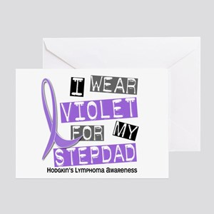 I Wear Violet 37 Hodgkin's Lymphoma Greeting Card