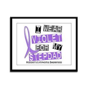 I Wear Violet 37 Hodgkin's Lymphoma Framed Panel P