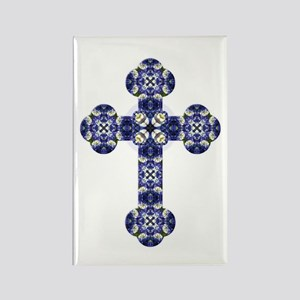 Bluebonnet cross Rectangle Magnet