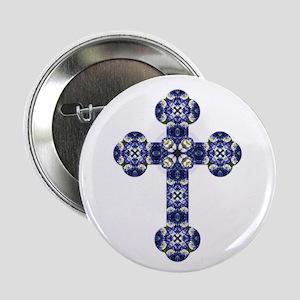 """Bluebonnet cross 2.25"""" Button"""