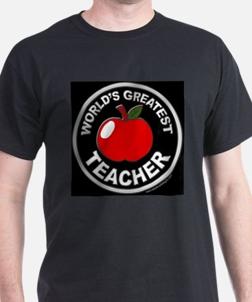 World's Greatest Teacher Black T-Shirt