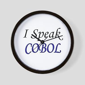"""I Speak COBOL"" Wall Clock"