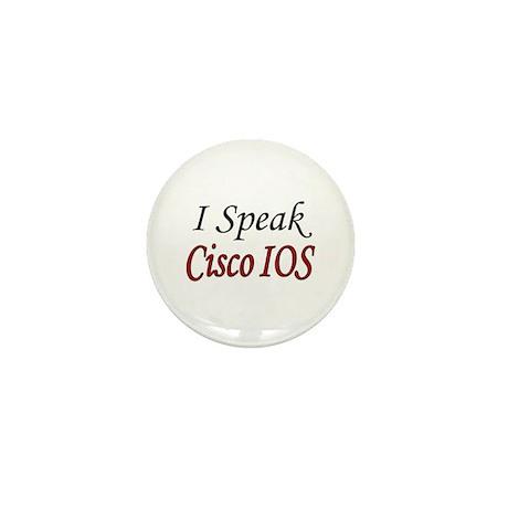 """""""I Speak Cisco IOS"""" Mini Button (10 pack)"""