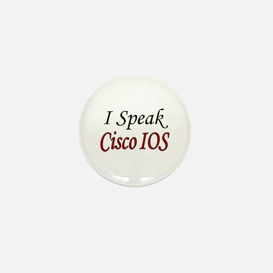 """I Speak Cisco IOS"" Mini Button"