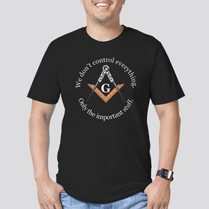 We don't control everything Men's Fitted T-Shirt (