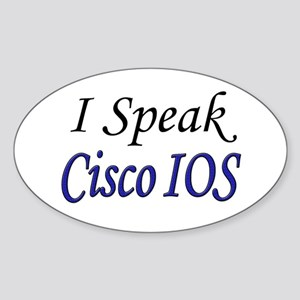 """I Speak Cisco IOS"" Oval Sticker"