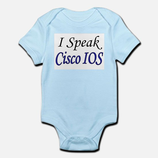 """I Speak Cisco IOS"" Infant Creeper"