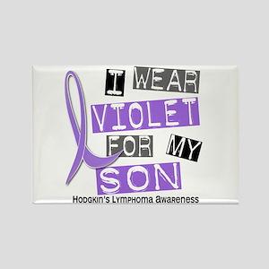 I Wear Violet 37 Hodgkin's Lymphoma Rectangle Magn