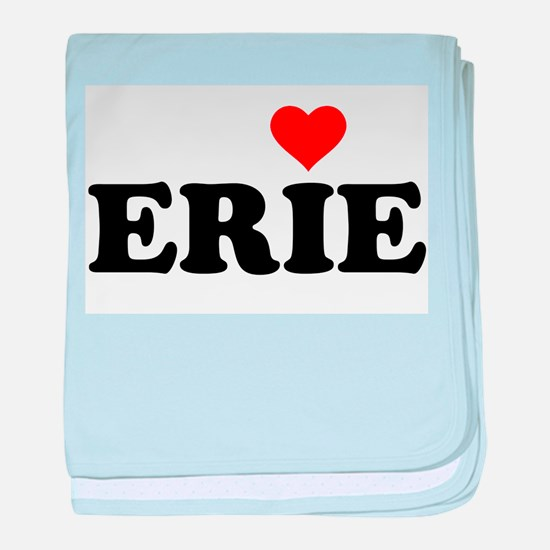 Erie with Heart baby blanket