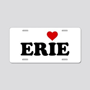 Erie with Heart Aluminum License Plate
