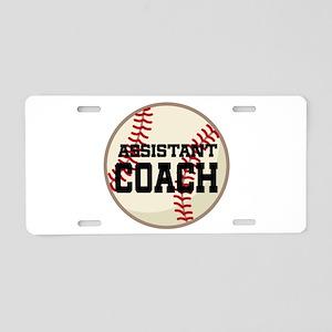 Baseball Assistant Coach Aluminum License Plate