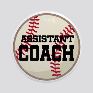 Baseball Assistant Coach Ornament (Round)