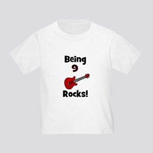 9th Birthday Shirt Boy Bask Guitar Toddler T