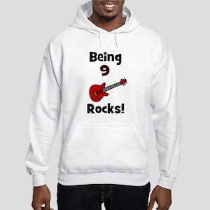 Being 9 Rocks! Guitar Hooded Sweatshirt