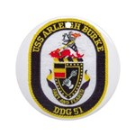 USS ARLEIGH BURKE Round Ornament