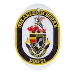 USS ARLEIGH BURKE Oval Ornament