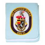 USS ARLEIGH BURKE baby blanket