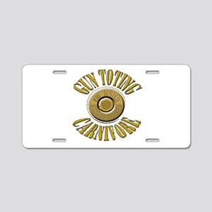 Gun Toting Carnivore Shell Ca Aluminum License Pla