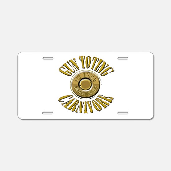 Gun Toting Carnivore Shell Ca Aluminum License Pla