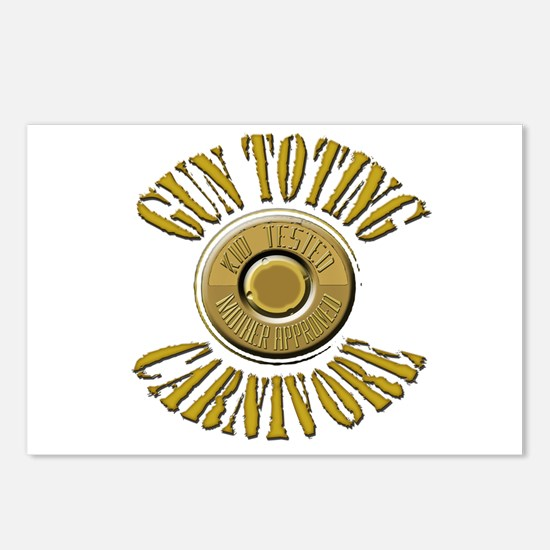 Gun Toting Carnivore Shell Ca Postcards (Package o