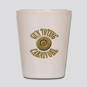 Gun Toting Carnivore Shell Ca Shot Glass