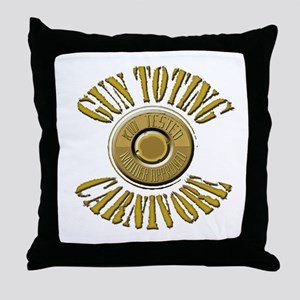 Gun Toting Carnivore Shell Ca Throw Pillow