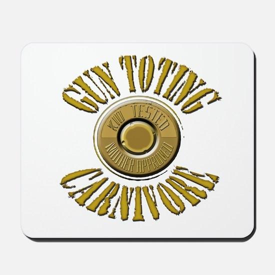 Gun Toting Carnivore Shell Ca Mousepad