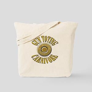 Gun Toting Carnivore Shell Ca Tote Bag