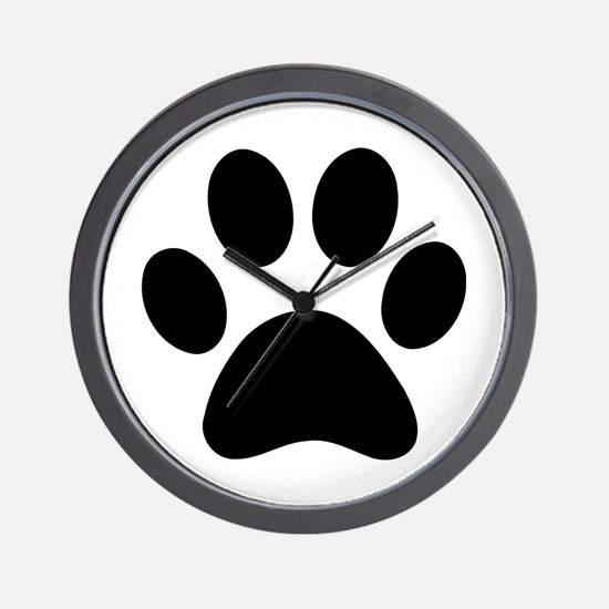 Paw Print Icon Wall Clock