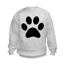 Paw Print Icon Kids Sweatshirt