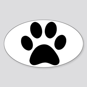 Paw Print Icon Sticker (Oval)