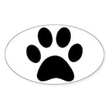 Paw Print Icon Sticker (Oval)