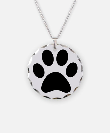 Paw Print Icon Necklace