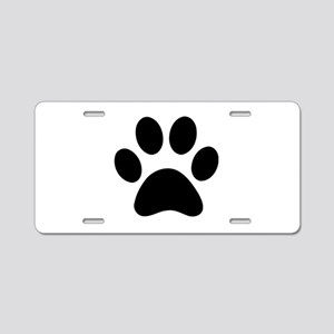 Paw Print Icon Aluminum License Plate