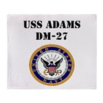 USS ADAMS Throw Blanket