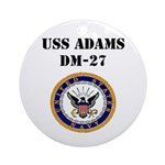 USS ADAMS Round Ornament