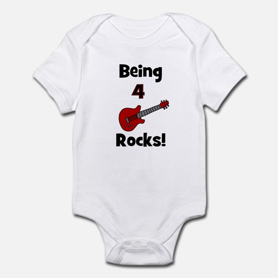 Being 4 Rocks! Guitar Infant Creeper